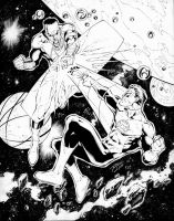 GL vs Sinestro inks by TonyKordos