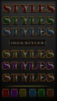 Bright colored styles with Golden border by DiZa-74
