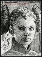 Padme Amidala Sketch Card by AngelinaBenedetti