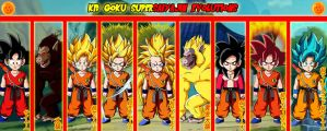 Kid Goku Supersaiyajin Evolutions by gonzalossj3