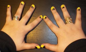 Silk Spectre Nails by chocobo-kisses