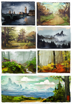 Landscape studies by F-inked