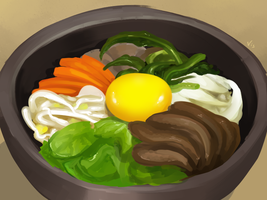 Bibimbap [7/29/13] by Skelefrog