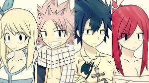 Fairy Tail: Team Natsu Wallpaper by Tkeio