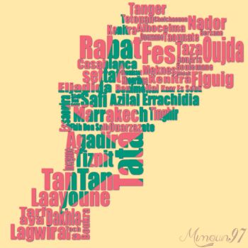Morocco with letters by mimoun97