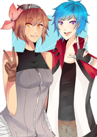 yuuta and aoi by rolly-kun