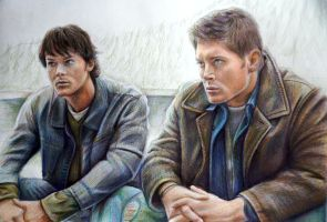 Sam and Dean Winchesters (WIP) by Alena-Koshkar