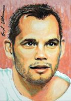 Rich Franklin sketch card by therealbradu