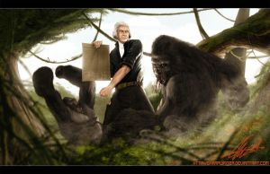 Thomas Jefferson Vs Gorilla by SharpWriter