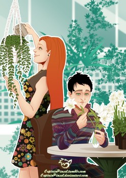 .: Ivy and Oswald :. by CaptainPinsel
