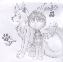 Jojo and Oki Giftart by MondaysRaptor