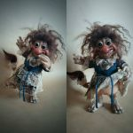 SOLD: OOAK Troll Wench Poseable Fae Art Doll by FaunleyFae