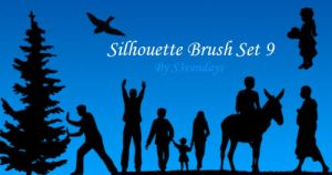 Silhouette Brush Set 9 by s3vendays