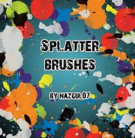 Splatter Brushes_ By Nazgul07 by nazgul07