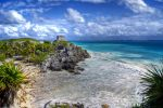 Tulum and the Caribbean Sea by dx