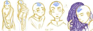 Aang Sketches by Luminosion