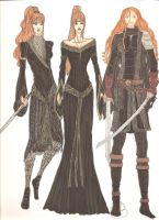 Deirdre costume designs by Selinelle