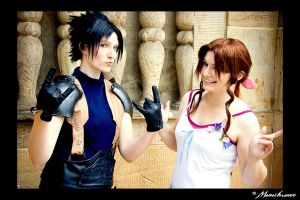 Zack and Aerith - beautiful by MiraiSadame
