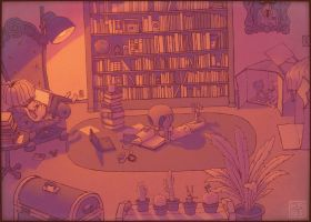 Personal Library by Kabiscube
