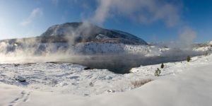 River Steam Pano Stock by leeorr-stock
