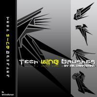 Tech Wing Brushes by MrDraftsman