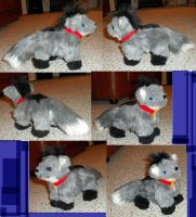 TevoSilverfox mini plush commission by JamJams