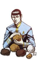 Spock and tribbles by DarianKite
