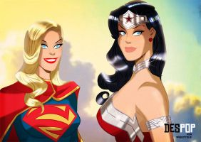 SUPERGIRL WONDER WOMAN NEW 52 STYLE by DESPOP
