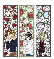 Death Note BookMarks - set 1 by FyireChilde