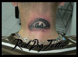 Eye Tattoo by Reddogtattoo