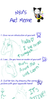 Art Meme by nyu by sylvienoir