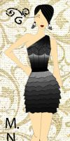 DNMTMAY Fashion sketch 8 - LBD by moni794