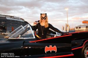 Catwoman steals the Batmobile by Alyssa-Ravenwood