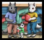 Comm-done: The three Wolves by Lincub