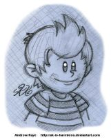 Sketch - Lucas by AK-Is-Harmless