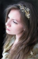 Headpiece Honey meadow by JuliaKotreJewelry