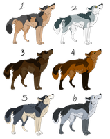 Free Wolf Adoptables [CLOSED] by yen-yang88