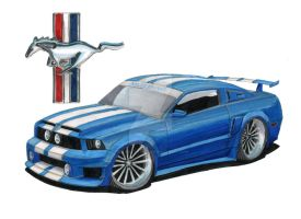 2008 Ford Mustang Shelby by Classic-Art-by-JP