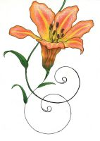 Tiger Lily 3rd Phase orange by Phoenixfeather54