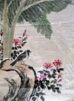 Bird on a Flowered Branch by chinesepaintings