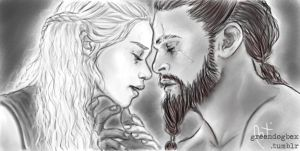 Daenerys and Khal Drogo by Greendogbex