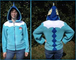 Vaporeon Eeveelution Cosplay Hoodie Jacket by Monostache