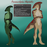 Parasaurolophus Adoptables Round 1 SOLD! by Tank50us