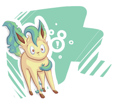 Leafeon -explanation point- by Umberon9