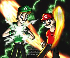 Green Thunder - Red Fire by MaewRS
