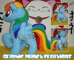 My Little Pony Rainbow Dash Plush by GraphicPlanetDesign