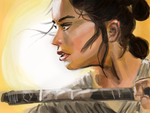 Rey, 'Star Wars: The Force Awakens' by stevenf