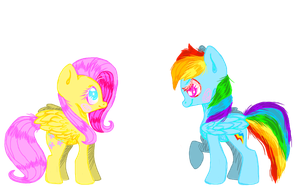 Rainbow dash and Fluttershy by GGFOX22