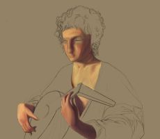 WIP Lute Player by Metty