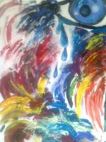 Rainbow crying by JaneBroucil